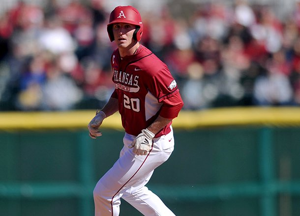 arkansas-matt-vinson-rounds-second-base-after-advancing-in-the-third-inning-of-sunday-afternoons-game-at-baum-stadium-in-fayetteville