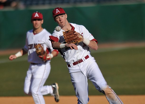 arkansas-third-baseman-brian-anderson-fields-the-ball-as-he-makes-a-play-for-an-out-in-the-sixth-inning-of-the-first-game-in-tuesday-afternoons-doubleheader-against-new-orleans-at-baum-stadium-in-fayetteville