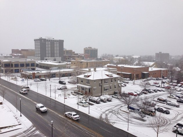 a-view-of-a-snowy-fayetteville-from-the-5th-floor-of-the-washington-county-courthouse