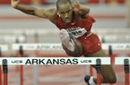 "Arkansas hurdler Caleb Cross is one of several Razorbacks listed among the top three in the SEC in 14 events. ""To win in this league you need the big hitters, you need the guys that can go out and perform on the national level,"" Coach Chris Bucknam said. ""No question we have some real good athletes on our team, and we look forward to seeing them perform on the big stage."""