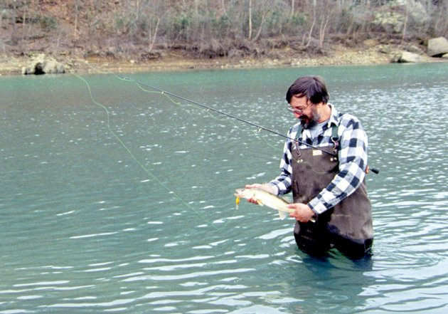 jim-spencer-of-calico-rock-wade-fishes-for-walleyes-in-the-devils-fork-the-forks-of-the-little-red-river-above-greers-ferry-lake-are-hot-spots-for-walleyes-during-spring-spawning-runs