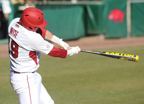 arkansas-junior-jake-wise-connects-for-a-two-run-home-run-friday-feb-22-2013-during-the-second-inning-of-play-against-evansville-at-baum-stadium-in-fayetteville