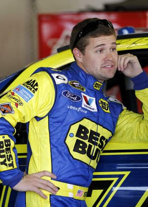 NASCAR Sprint Cup driver Ricky Stenhouse Jr. is a popular interview this week at the Daytona 500, according to one columnist, because he's dating Danica Patrick, not because of his driving ability.