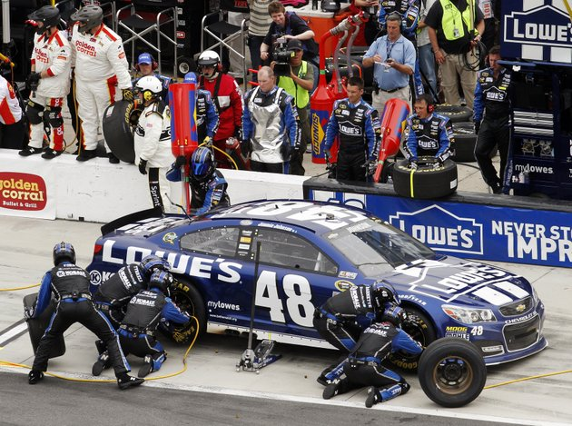 jimmie-johnson-pits-for-tires-and-fuel-during-the-nascar-daytona-500-sprint-cup-series-auto-race-at-daytona-international-speedway-sunday-feb-24-2013-in-daytona-beach-fla