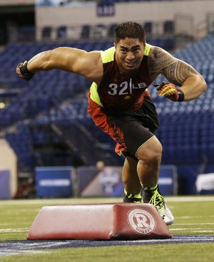 Notre Dame linebacker Manti Te'o ran the 40-yard dash in 4.82 seconds, which placed him 20th out of 26 linebackers at the NFL combine.