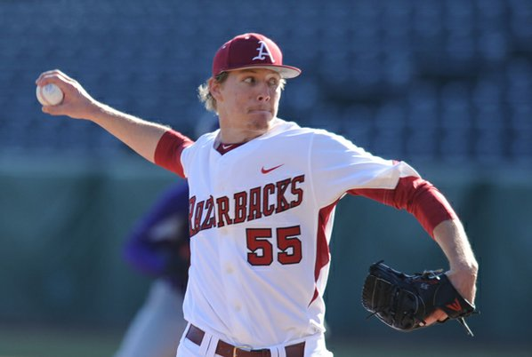 Arkansas junior pitcher Ryne Stanek ...