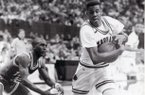 Ron Huery (right) was a member of the 1987 Arkansas basketball team that beat Arkansas State 67-64 in Barnhill Arena.