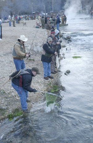 Opening day at Roaring River State Park draws crowds of trout anglers. The catch and keep fishing season starts at 6:30 a.m. Friday.