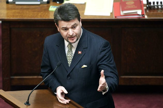 sen-jason-rapert-r-conway-speaks-in-the-senate-chamber-at-the-arkansas-state-capitol-in-little-rock-ark-tuesday-march-5-2013-the-arkansas-senate-voted-tuesday-to-override-gov-mike-beebes-veto-of-raperts-legislation-that-would-ban-most-abortions-from-the-12th-week-of-pregnancy-onward-and-would-give-the-state-the-most-restrictive-abortion-laws-in-the-country-ap-photodanny-johnston