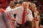 Arkansas coach Tom Collen watches during the first half against South Carolina Sunday, Jan. 27, 2013, in Bud Walton Arena.