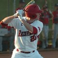 Arkansas outfielder Matt Vinson stands in during the eighth inning of a game against Gonzaga on Marc...