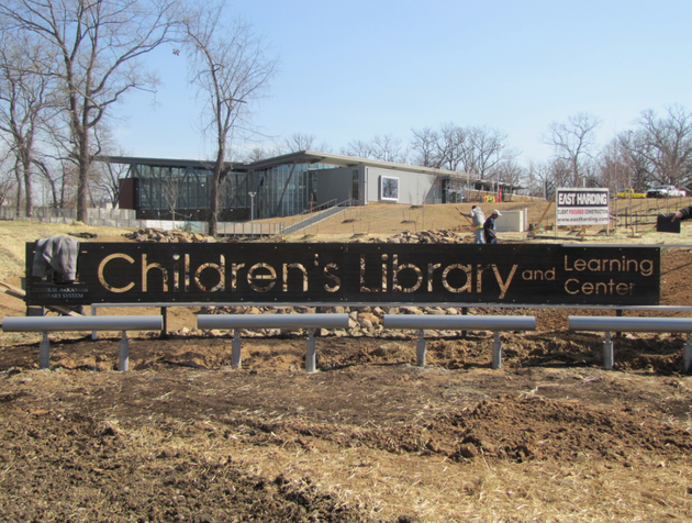 crews-work-wednesday-to-finish-the-landscaping-outside-the-new-childrens-library-in-little-rock