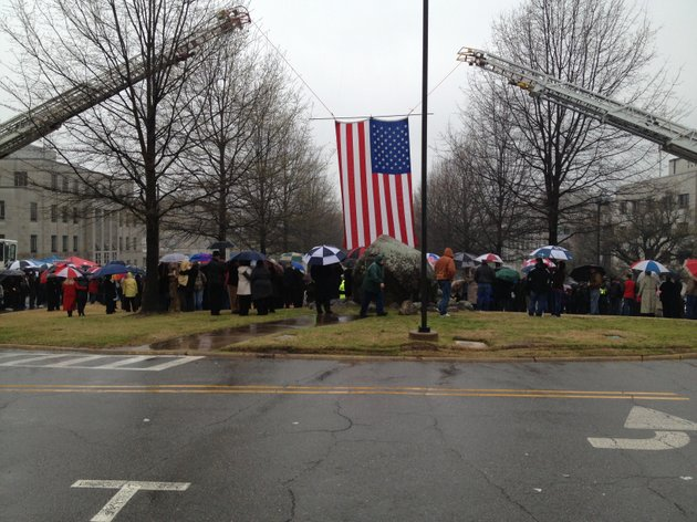 hundreds-gathered-on-the-west-lawn-of-the-state-capitol-on-saturday-afternoon-to-celebrate-the-ground-breaking-of-the-arkansas-fallen-firefighters-memorial