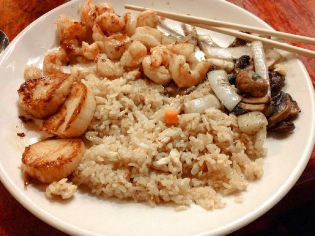 jr-seafood-feast-with-fried-rice-and-vegetables-at-shogun-in-little-rock