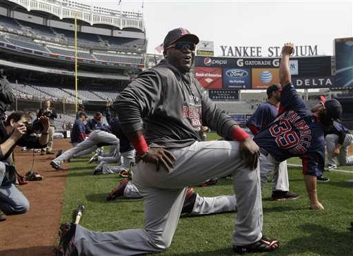 boston-red-sox-designated-hitter-david-ortiz-34-jokes-with-reporters-on-the-field-before-the-red-sox-opening-day-baseball-game-against-the-new-york-yankees-at-yankee-stadium-in-new-york-on-monday