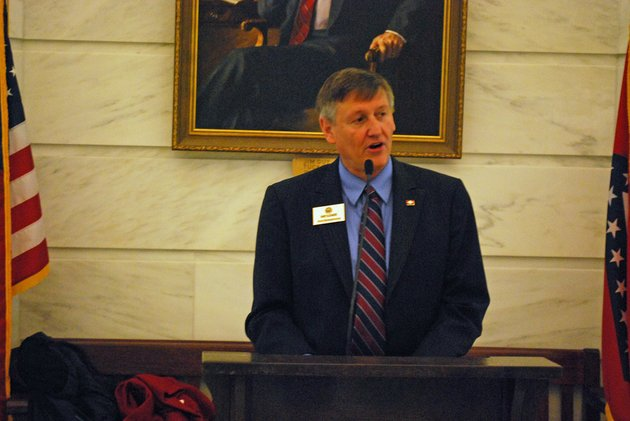 rep-randy-alexander-r-fayetteville-speaks-at-a-arkansas-parents-for-school-choice-rally-at-the-state-capitol-rotunda-on-tuesday-april-2-2013