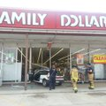A car drove through the front of Family Dollar on South School Avenue in Fayetteville Tuesday aftern...