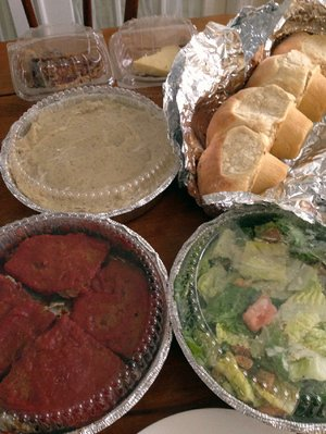 Meatloaf, yeast rolls, pie and salads are among the dinner-to-go items at Your Mama's Good Food.