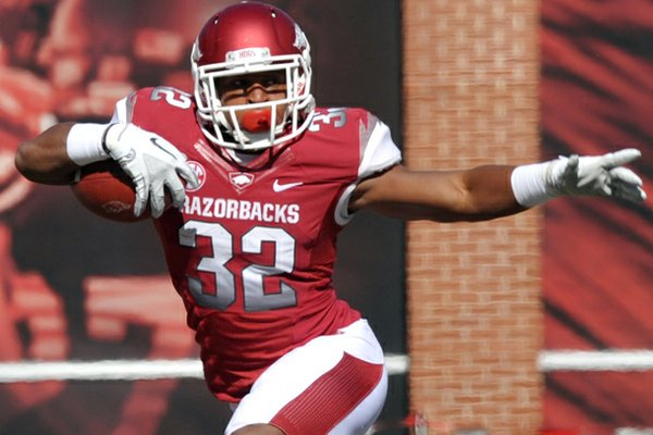 Sophomore running back Jonathan Williams is expected to be the Razorbacks' starting running back to start the 2013 season.