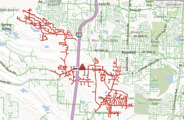 this-entergy-arkansas-map-shows-monday-april-15-2013-where-in-west-little-rock-customers-were-without-power-because-of-a-tripped-breaker-at-the-hindman-substation