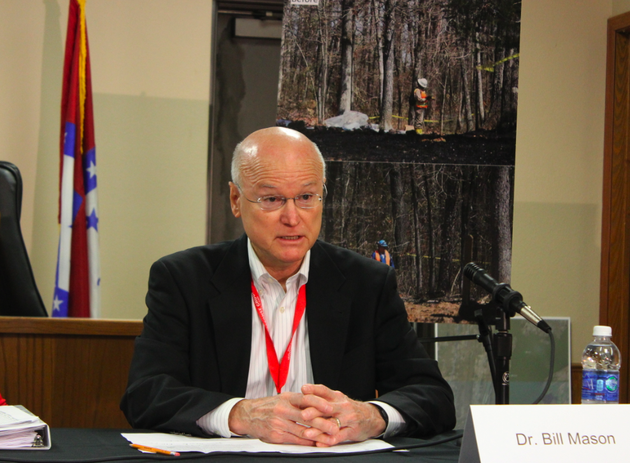 dr-bill-mason-with-the-arkansas-department-of-health-speaks-thursday-at-a-news-conference-updating-the-cleanup-of-oil-in-mayflower