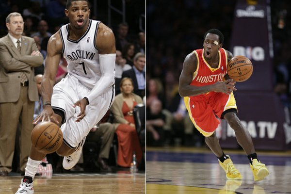 Joe Johnson (left) and Patrick Beverley (right) are a pair of the former Arkansas basketball players that will be playing in the NBA playoffs this year.