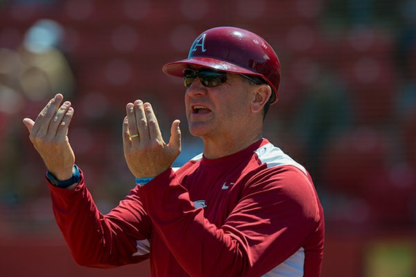 Arkansas softball coach Mike Larabee has the Razorbacks ranked for the first time in program history.