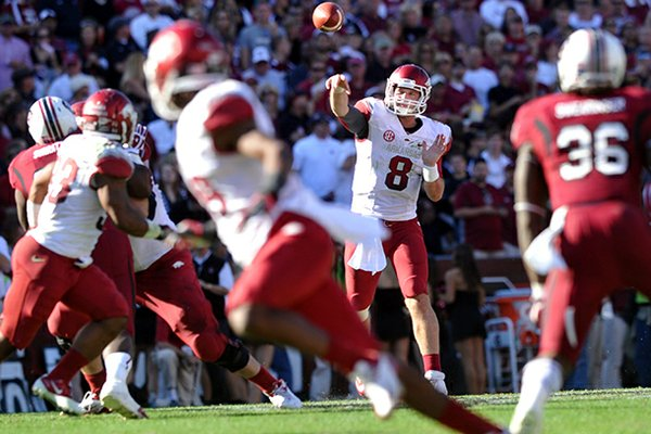 Quarterback Tyler Wilson is one of a handful of Arkansas players hoping to hear their name called Friday in the NFL Draft.