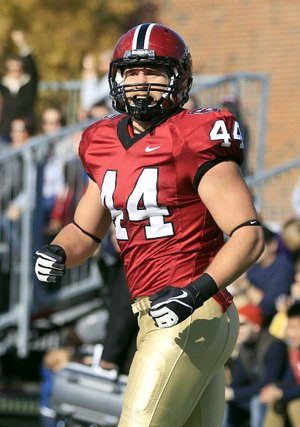 Harvard tight end Kyle Juszczyk (44) is one of three players from Ivy League schools who have a good chance to be taken this year in the NFL Draft.