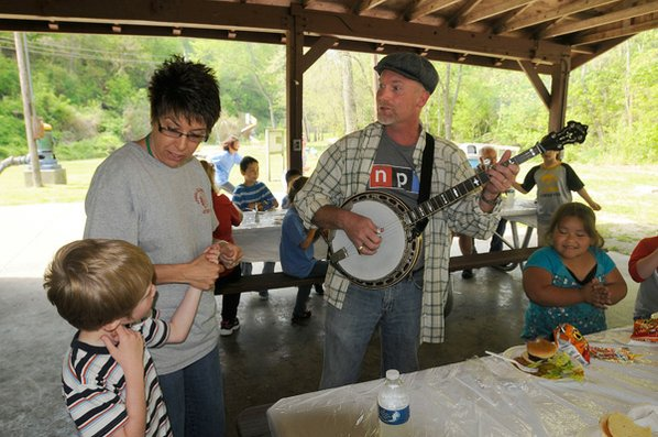 Dancing to banjo tunes by ...