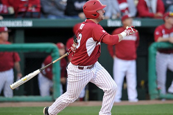 Jake Wise had a solo home run in the Razorbacks' win at Kentucky on Friday.