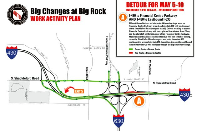 this-image-from-the-arkansas-highway-and-transportation-department-shows-scheduled-detours-for-next-week-as-crews-continue-work-on-the-interstate-430630-big-rock-interchange