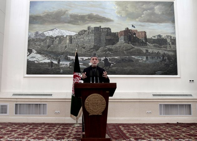 afghan-president-hamid-karzai-speaks-during-a-news-conference-in-kabul-afghanistan-saturday-may-4-2013-karzai-says-the-director-of-the-cia-assured-him-that-regular-funding-his-government-receives-from-the-agency-will-not-be-cut-off-he-says-afghanistan-has-been-receiving-such-funding-for-more-than-10-years-and-expressed-hope-at-a-saturday-news-conference-that-it-will-not-stop