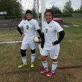 Hannah Bond, left, and Ana Palacios of Gentry have formed a potent 1-2 scoring combination for the L...