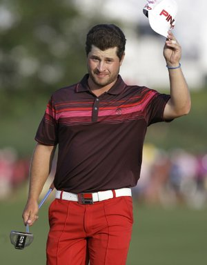 Tiger Woods and Sergio Garcia created drama on and off the TPC Sawgrass course during the Players Championship throughout the weekend, but it was David Lingmerth (shown), a PGA Tour rookie who played at the University of Arkansas, who had the last shot at forcing a playoff with Woods on the 72nd hole at Ponte Vedra Beach, Fla.