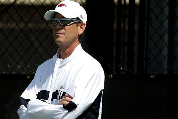 Robert Cox announced he was stepping down from the Arkansas tennis team on Monday.