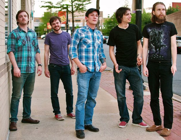 rockers-mad-nomad-jesse-bell-from-left-adam-hogg-joe-holland-chris-honea-and-jacob-mahan-launch-their-debut-album-black-out-with-a-friday-show-at-white-water-tavern