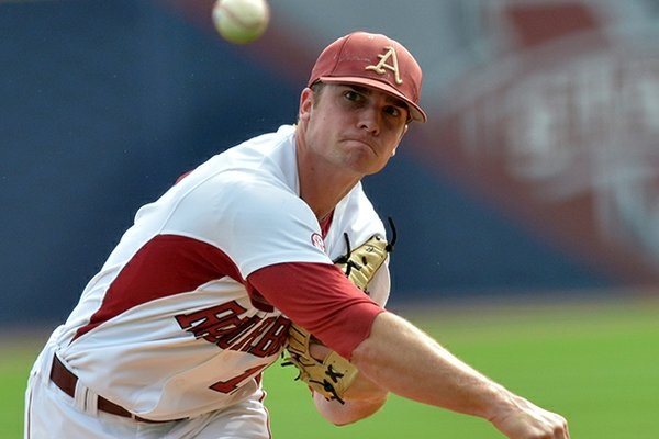 Arkansas pitcher Barrett Astin was selected by the Milwaukee Brewers in the 2013 MLB draft Friday.