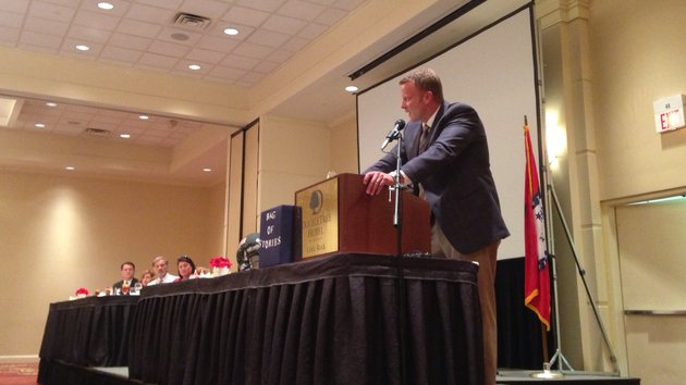 arkansas-state-head-coach-bryan-harsin-addresses-members-of-the-little-rock-rotary-club-on-tuesday-afternoon