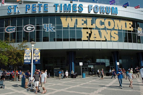 The St. Pete Times Forum hosted the SEC Basketball Tournament in 2009.