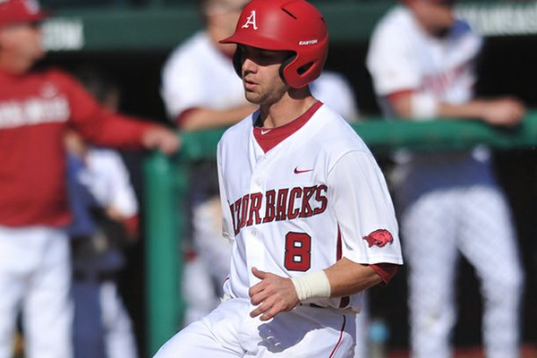Tyler Spoon led Arkansas in hits and RBIs as a freshman.