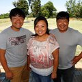 Washington County Farm Family of the year Cindy and David Yang stand with their son Pao, left, 15, o...