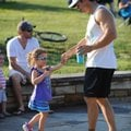 Jody Hendrix of Fayetteville, right, dances Thursday with his 3-year-old daughter, Frankie, to the m...