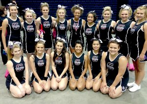 The Gentry cheer squad (right) posed for a photo at the recent NCA cheer camp in Hot Springs. Pictured (not in any certain order) are: seniors Sophia Ascensio-Porter (back row, middle), Cheyenne Dotson, Lindsey Holt and Kristen Flesner; juniors Kyla Riggs, Whitney Scott, Mycah Turtle, Shelby Allen, Ericka Horton and Niki Lee; sophomores Sydney Hodges, Brittney Atwood, Lexie Clark, Erika Magana and Amanda Brenes.