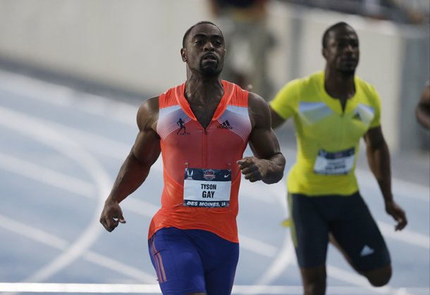 tyson-gay-leads-charles-silmon-right-during-the-senior-mens-100-meter-dash-final-at-the-us-championships-athletics-meet-friday-june-21-2013-in-des-moines-iowa-gay-won-the-race-in-975-seconds-ap-photocharlie-neibergall