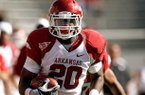 Former Arkansas running back Ronnie Wingo, pictured, is scheduled to visit with his brother Raymond Wingo. Raymond Wingo is a cornerback and one of the Razorbacks' top targets.