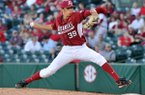 Chris Oliver, University of Arkansas pitcher, finished 2-2 with a 2.25 ERA in 14 games this season for the Razorbacks.