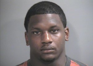 Fromer Arkansas linebacker Tenarius Wright was arrested in Fayetteville on Sunday.