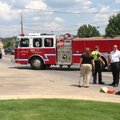 Fayetteville police work the scene of a hit-and-run accident Monday where a pedestrian was injured.