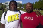 Defensive lineman Bijhon Jackson and his father Anthony  enjoyed The Opening together.